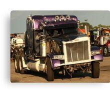 Truck 7950 Purple Canvas Print