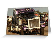 Truck 7950 Purple Greeting Card
