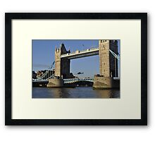 Tower Bridge and Helicoptor II Framed Print