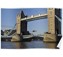 Tower Bridge and Helicoptor II Poster