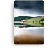 Reflections, Talla Reservoir, Scottish Borders Canvas Print