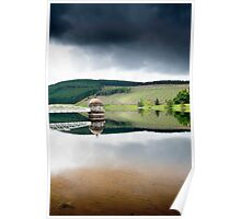 Reflections, Talla Reservoir, Scottish Borders Poster