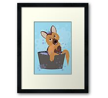 Bubble Bath Puppy Framed Print