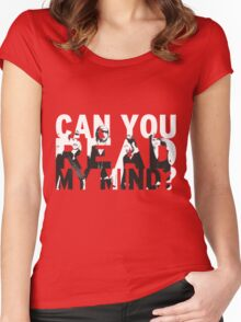 Can you read my mind? Women's Fitted Scoop T-Shirt