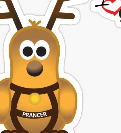 Christmas Penguin - Prancer Sticker