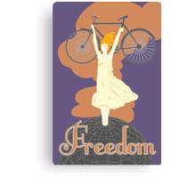Biking is Freedom Canvas Print