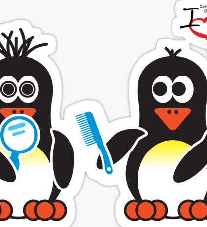 Bathroom Penguin - Bad Hair Day Sticker