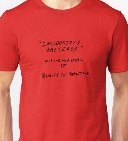 Quentin Tarantino - Inglourious Basterds script Unisex T-Shirt