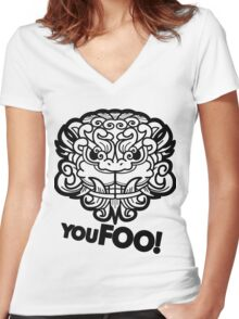 You Foo! Women's Fitted V-Neck T-Shirt