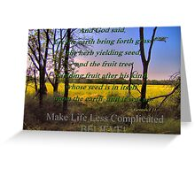 How To Make Life Less Complicated Greeting Card