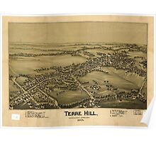 Panoramic Maps Terre Hill Lancaster County Pennsylvania 1894 Poster