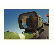 Barrel mounted M-60 Tank Light Art Print