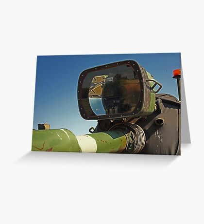Barrel mounted M-60 Tank Light Greeting Card