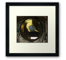 Fighter Jet Engine Air Intake Shaft Framed Print
