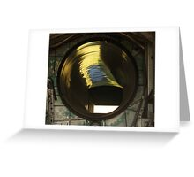 Fighter Jet Engine Air Intake Shaft Greeting Card