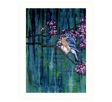 Blossoming Bluebird Art Print
