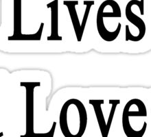 My Girlfriend Lives And Loves To Heal Dogs  Sticker