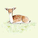 Happy Fallow Deer by Sophie Corrigan