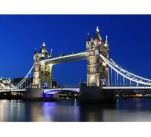 Tower Bridge at night Photographic Print