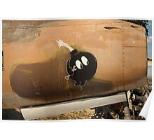An Image of Luck Painted on Jet Engine Housing Poster