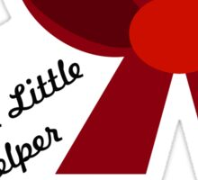 'Santa's Little Helper' Bow (Red) Sticker