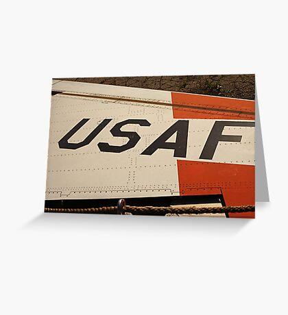 USAF Logo on Wing Greeting Card