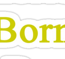American Born In Brazil  Sticker
