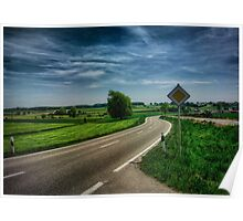 right of way landscape Poster