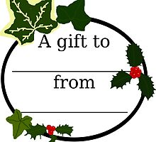 Christmas Gift Label by masqueblanc