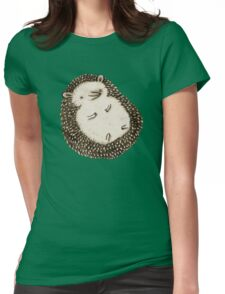 Plump Hedgehog Womens Fitted T-Shirt