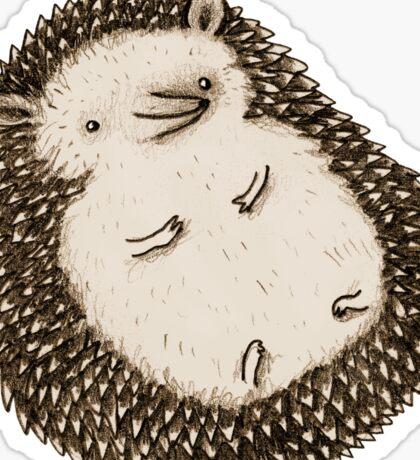Plump Hedgehog Sticker