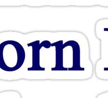 American Born In Colombia  Sticker