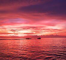 Puerto Galera Sunset Banana Boat by Jojo Sardez