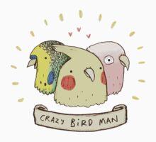 Crazy Bird Man Kids Clothes
