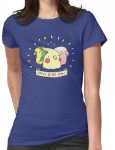 Crazy Bird Man Womens Fitted T-Shirt