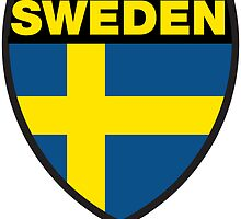Sweden Flag and Shield by sexymoo