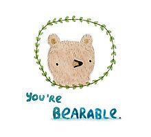 Bearable Bear Photographic Print