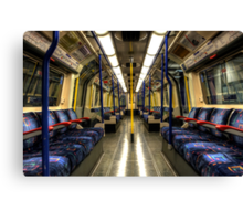 Inside Tube Train Canvas Print
