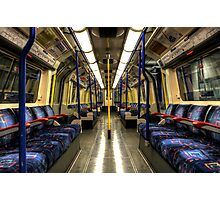 Inside Tube Train Photographic Print