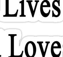 My Boyfriend Lives And Loves To Heal Pigs  Sticker