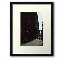 Street near our hotel Firenze Italy 19840707 0001 Framed Print