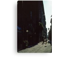 Street near our hotel Firenze Italy 19840707 0001 Canvas Print