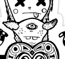 Monster Heads Sticker