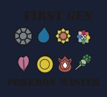 First Generation Pokemon Master Kids Tee