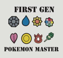 First Generation Pokemon Master by knil92