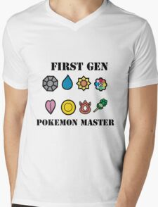 First Generation Pokemon Master Mens V-Neck T-Shirt