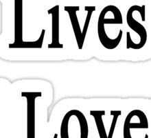 My Husband Lives And Loves To Heal Cows  Sticker