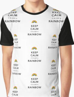 Keep Calm Rainbow on white Graphic T-Shirt