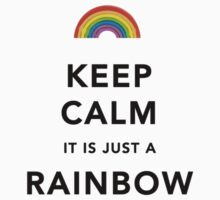Keep Calm Rainbow on white One Piece - Short Sleeve