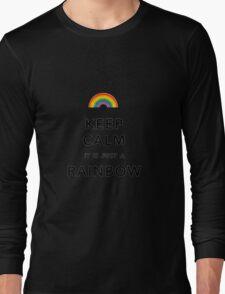 Keep Calm Rainbow on white Long Sleeve T-Shirt